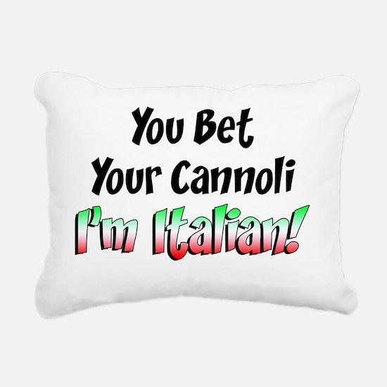Bet Your Cannoli Kids Rectangular Canvas Pillow