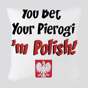 Bet Your Pierogi baby Woven Throw Pillow