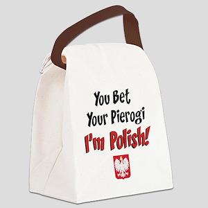 Bet Your Pierogi baby Canvas Lunch Bag