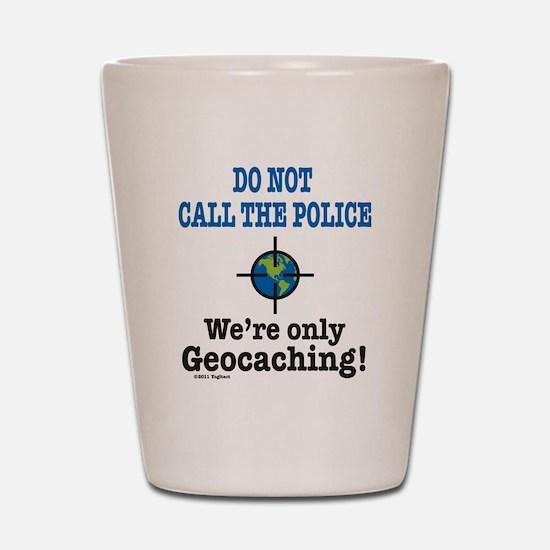 Geocach-white Shot Glass