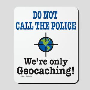 Geocach-white Mousepad