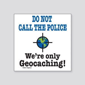 "Geocach-white Square Sticker 3"" x 3"""