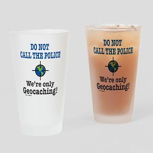Geocach-white Drinking Glass