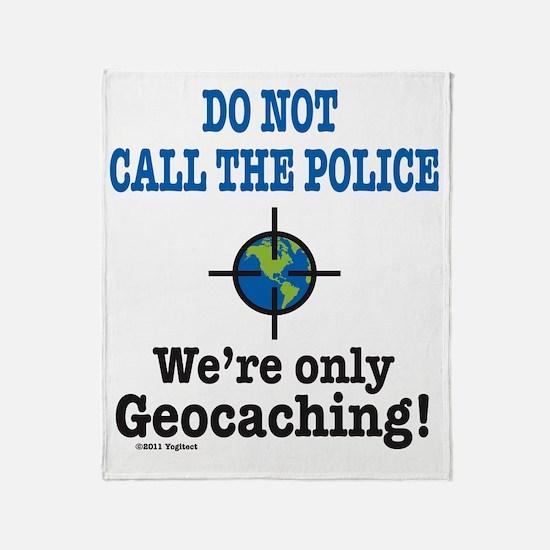 Geocach-white Throw Blanket