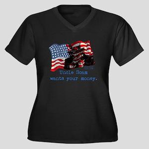 uncle_sam Women's Plus Size Dark V-Neck T-Shirt