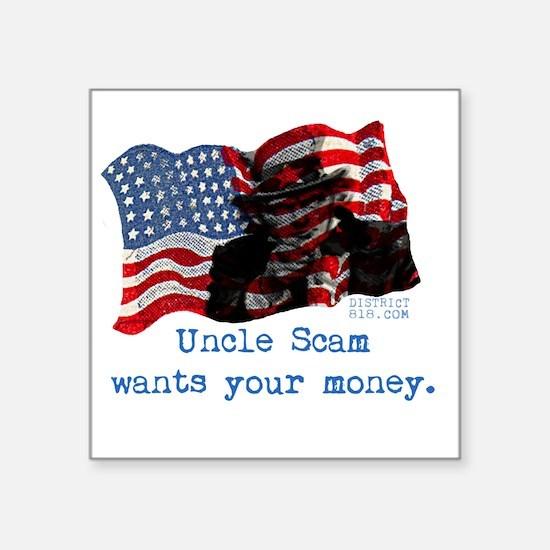 """uncle_sam Square Sticker 3"""" x 3"""""""