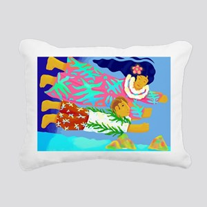 Lanikai Lovers Rectangular Canvas Pillow