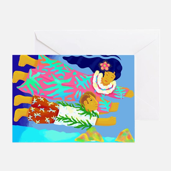Lanikai Lovers Greeting Card