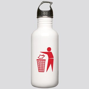 Red Please Dont Litter Water Bottle