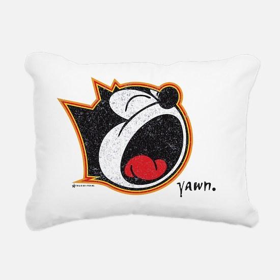 yawn Rectangular Canvas Pillow