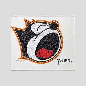 yawn Throw Blanket