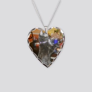 SteakHamburgerSide Necklace Heart Charm