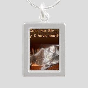 AudreyHaveAnother Silver Portrait Necklace