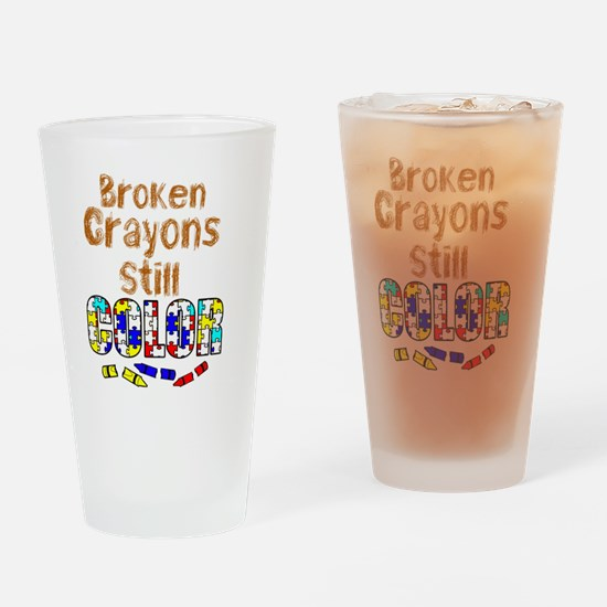 BROKEN CRAYONS STILL COLOR Drinking Glass