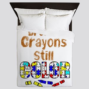 BROKEN CRAYONS STILL COLOR Queen Duvet