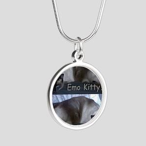 ZaphyEmoKitty Silver Round Necklace