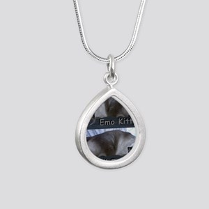 ZaphyEmoKitty Silver Teardrop Necklace
