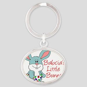 Babcias Little Bunny Oval Keychain