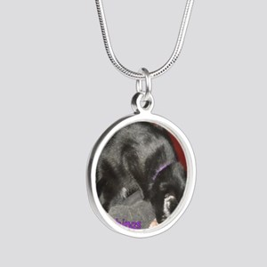 MouseFlavor Silver Round Necklace