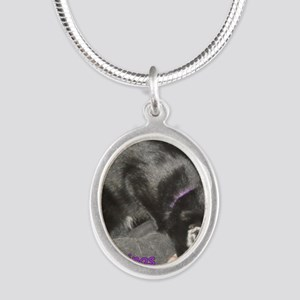 MouseFlavor Silver Oval Necklace