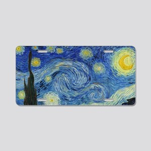The Starry Night by Van Gog Aluminum License Plate