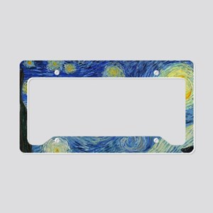 The Starry Night by Van Gogh License Plate Holder