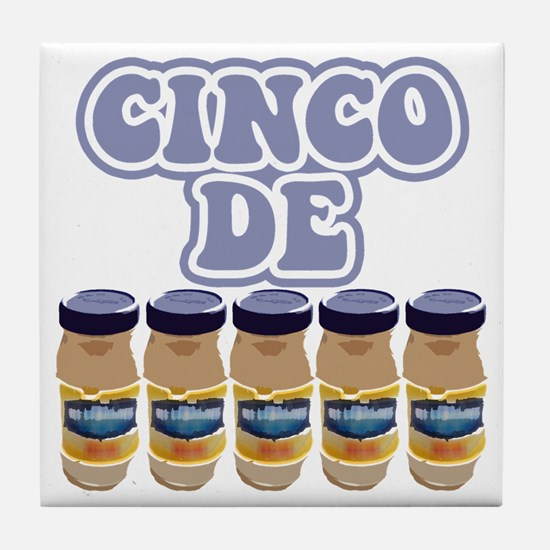 cinco de mayo2 BLUE Tile Coaster