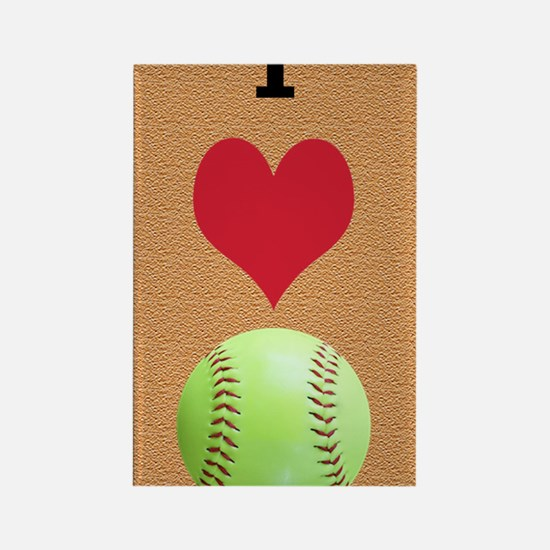 I Love Softball Itouch2 Itouch4 I Rectangle Magnet