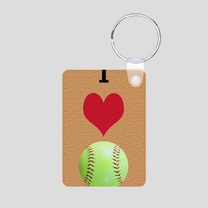 I Love Softball Itouch2 It Aluminum Photo Keychain