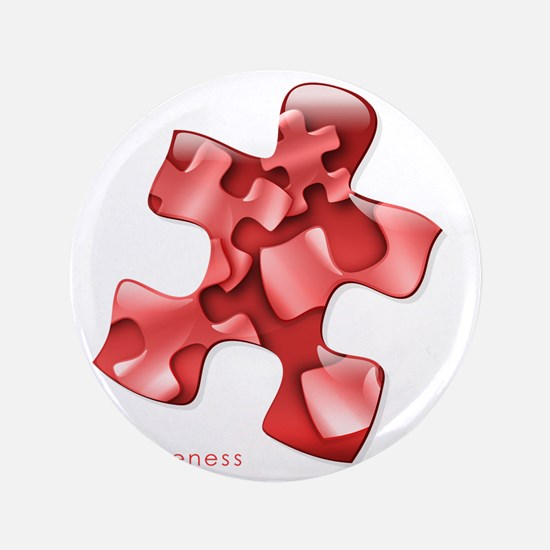 """puzzle-v2-red-onblk2 3.5"""" Button"""