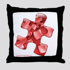 puzzle-v2-red-onblk2 Throw Pillow