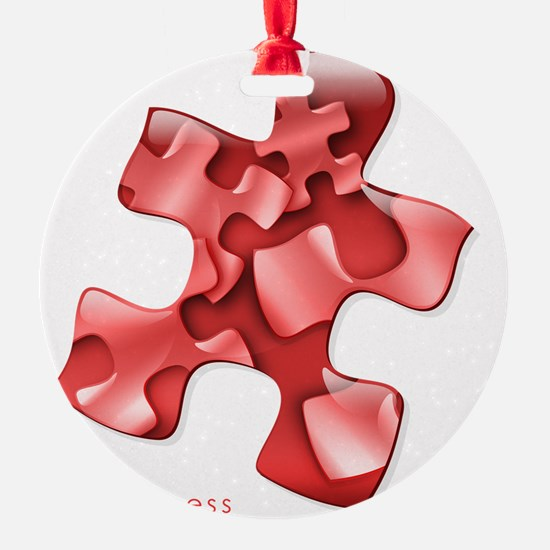 puzzle-v2-red-onblk2 Ornament