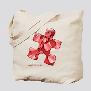 puzzle-v2-red-onblk2 Tote Bag