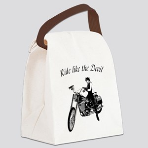 Ride like the devil Canvas Lunch Bag