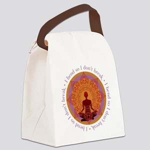 bendYogaREV1out Canvas Lunch Bag