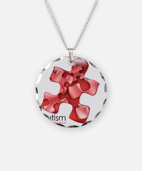 puzzle-v2-red Necklace Circle Charm