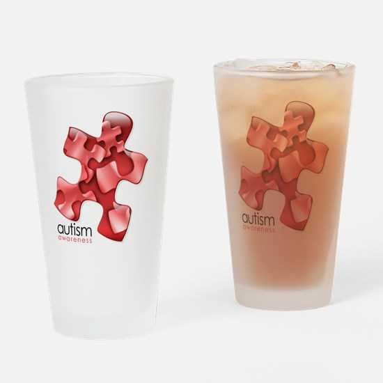 puzzle-v2-red Drinking Glass