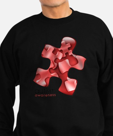 puzzle-v2-red Sweatshirt (dark)