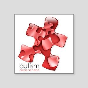 "puzzle-v2-red Square Sticker 3"" x 3"""