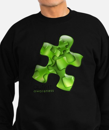 puzzle-v2-green Sweatshirt (dark)