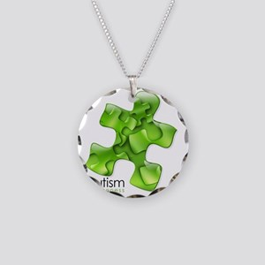 puzzle-v2-green Necklace Circle Charm
