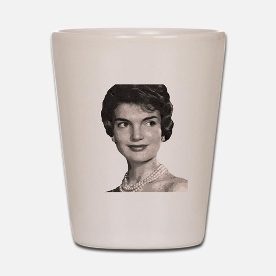 jackie close up t-shirt Shot Glass