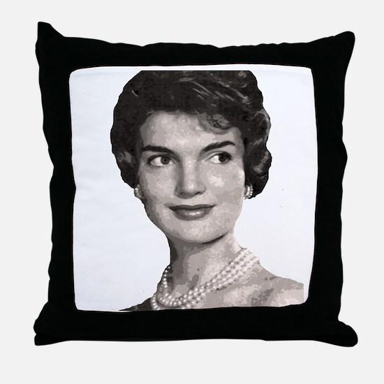 jackie close up t-shirt Throw Pillow