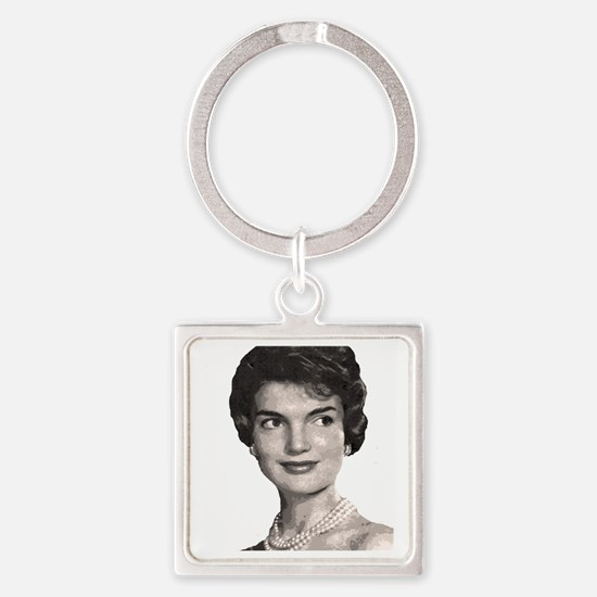 jackie close up t-shirt Square Keychain