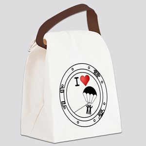 Iheart-parasail Canvas Lunch Bag