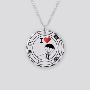 Iheart-parasail Necklace Circle Charm