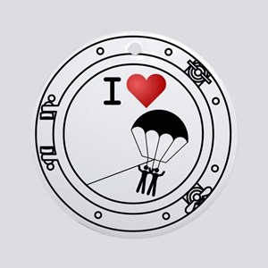 Iheart-parasail Round Ornament
