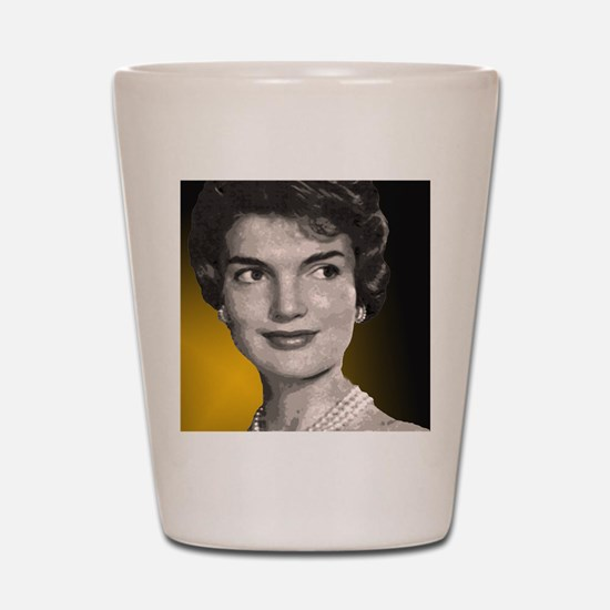 Jackie O clock close up Shot Glass