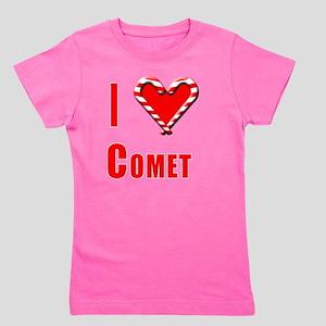 I Love Comet (Reindeer) with Heart and  Girl's Tee