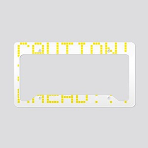 zombies_ahead License Plate Holder